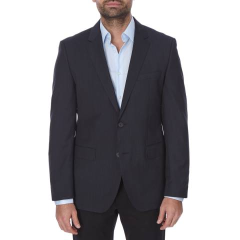 Boss by Hugo Boss Navy Pinstripe Wool The Rider Suit Jacket