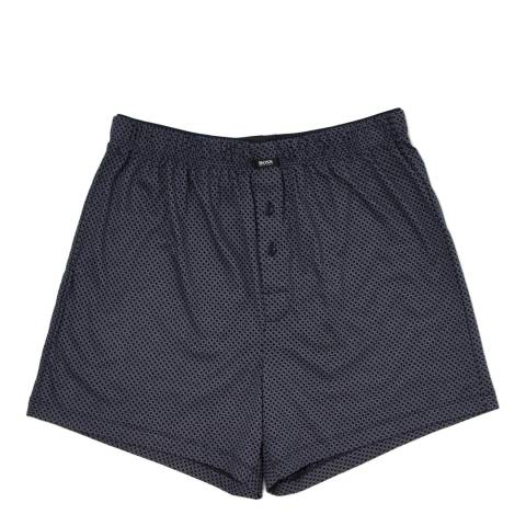 Boss by Hugo Boss Navy/Grey Diamond Print Jersey Pyjama Shorts