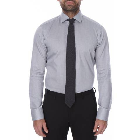 Boss by Hugo Boss Grey Micro Dot Regular Fit Cotton Gordon Shirt