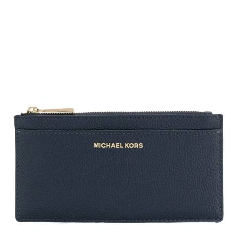 Michael Kors Navy Money Pieces Leather Card Case