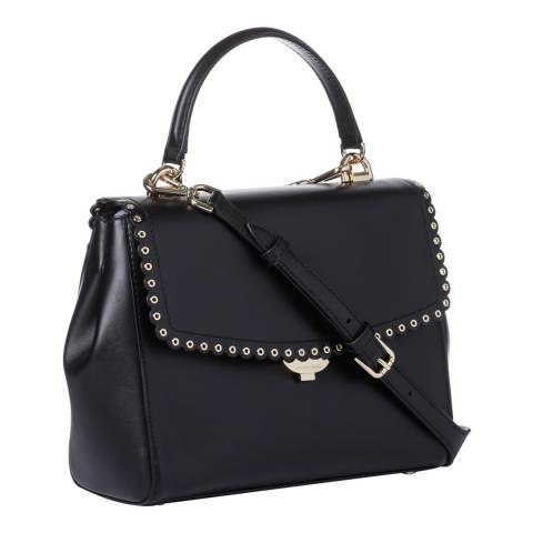 Michael Kors Black Ava MD Leather Satchel Bag