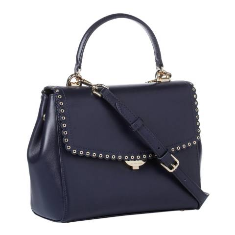 Michael Kors Admiral Blue Ava MD Leather Satchel Bag