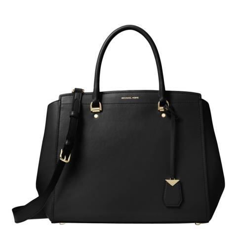 Michael Kors Black Benning XL Satchel Bag