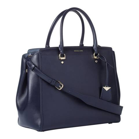 Michael Kors Admiral Blue Benning XL Satchel Bag