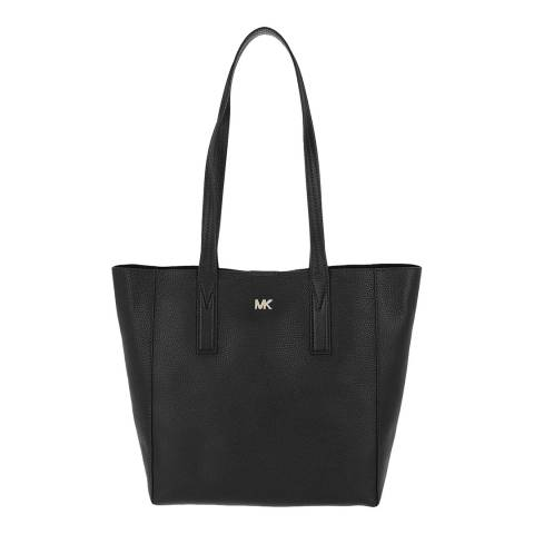 Michael Kors Black Junie Leather MD Tote Bag