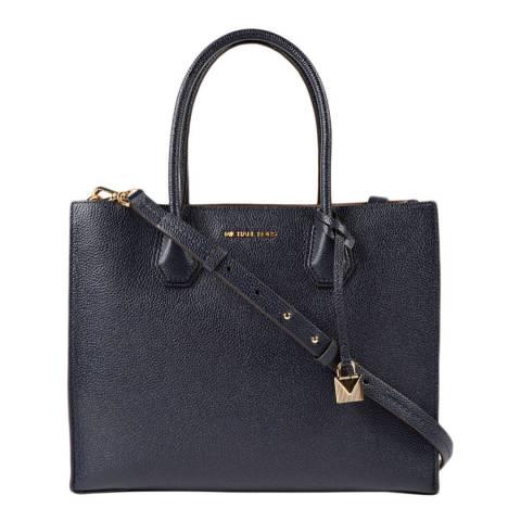 Michael Kors Navy Mercer Large Leather Bag