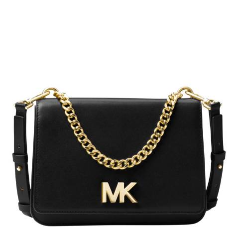 Michael Kors Black Mott Large Leather Bag