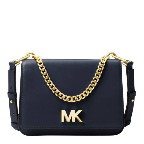 Michael Kors Navy Mott Large Leather Bag