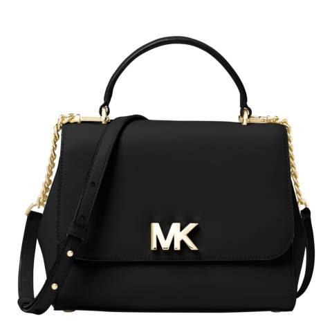 Michael Kors Black Mott Medium Leather Bag