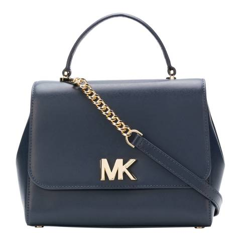 Michael Kors Navy Mott Medium Leather Bag