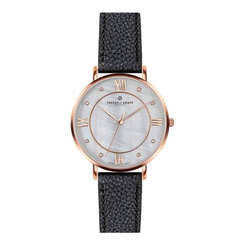 Frederic Graff Women's Lychee Black Liskamm Watch  38 mm