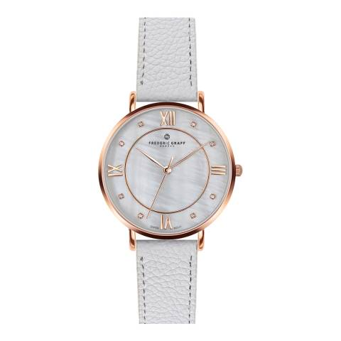 Frederic Graff Women's Lychee White Liskamm Watch  38 mm