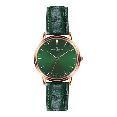 Frederic Graff Men's Croco Dark Green Grunhorn Watch 40 mm