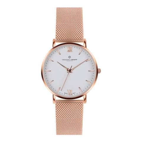 Frederic Graff Womens Rose Gold Dent Blanche Watch 40 mm