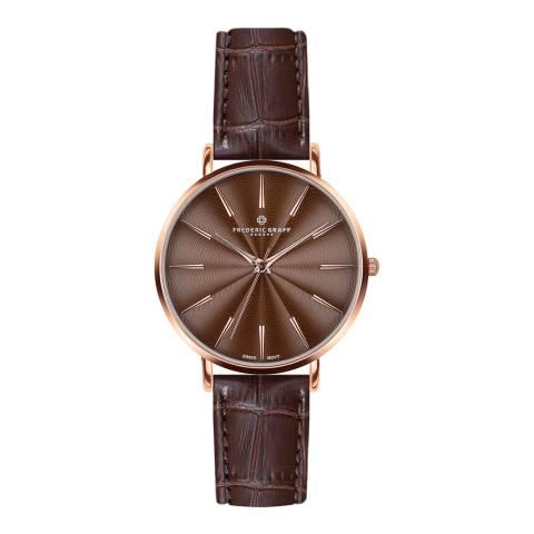 Frederic Graff Women's Croco Brown Monte Rosa Watch 38 mm