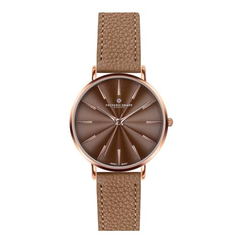 Frederic Graff Women's Lychee Cognac Monte Rosa Watch 38 mm