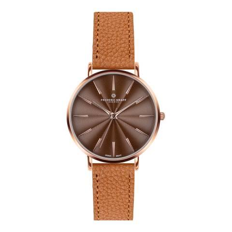 Frederic Graff Women's Lychee Ginger Brown Monte Rosa Watch 38 mm