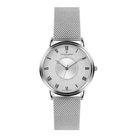 Frederic Graff Womens Silver Grand Combin Watch 40 mm