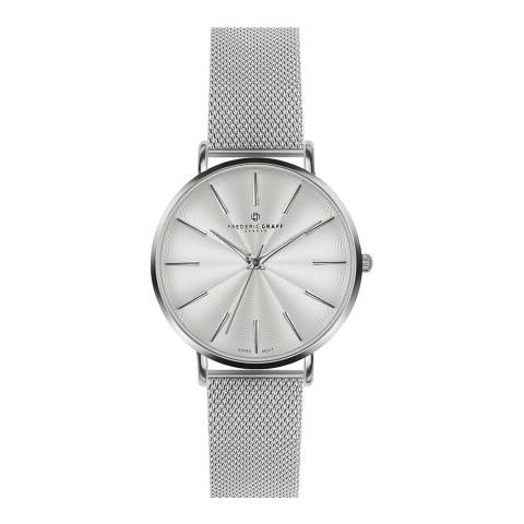Frederic Graff Women's Silver Monte Rosa Watch 38 mm
