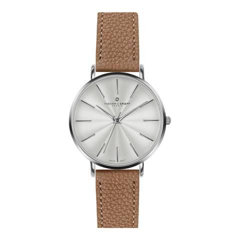Frederic Graff Women's Lychee cognac Monte Rosa Watch 38 mm