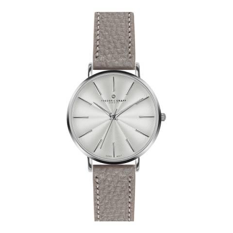 Frederic Graff Women's Lychee Grey Monte Rosa Watch 38 mm