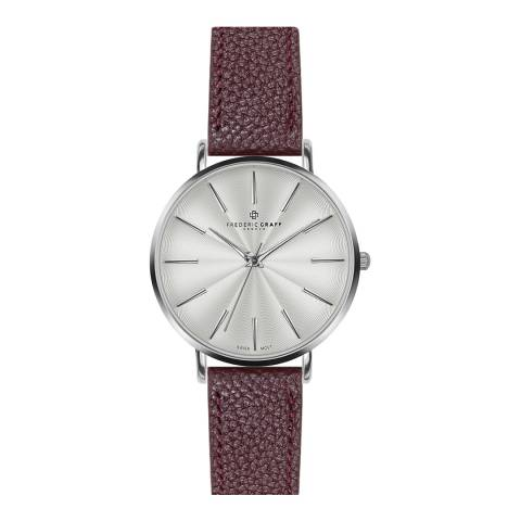 Frederic Graff Women's Lychee Bordeaux Monte Rosa Watch 38 mm