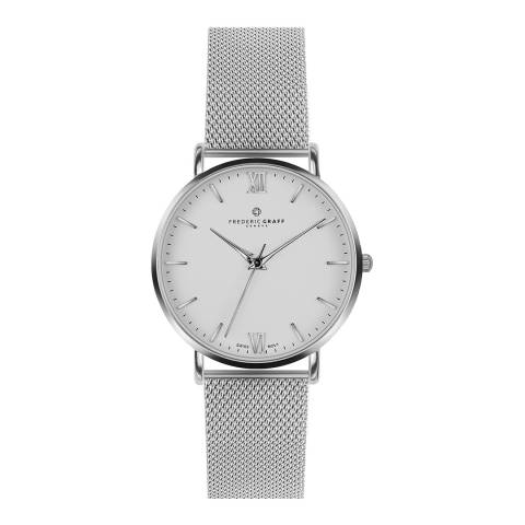 Frederic Graff Womens Silver Dent Blanche Watch 40mm