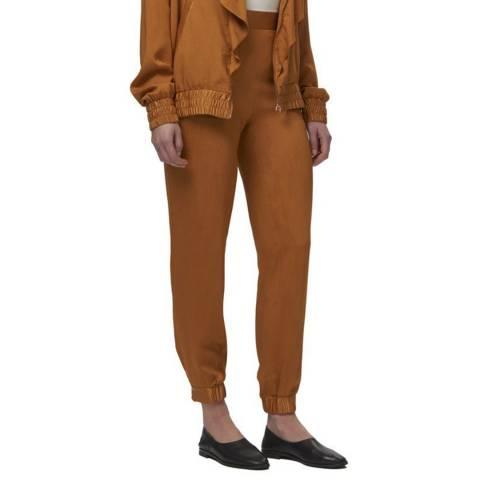 WTR London Mustard Silk Blend Journey Trousers