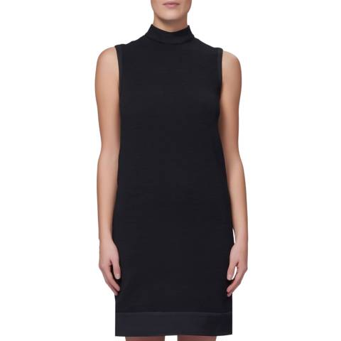 WTR London Black Swanky High Neck Dress