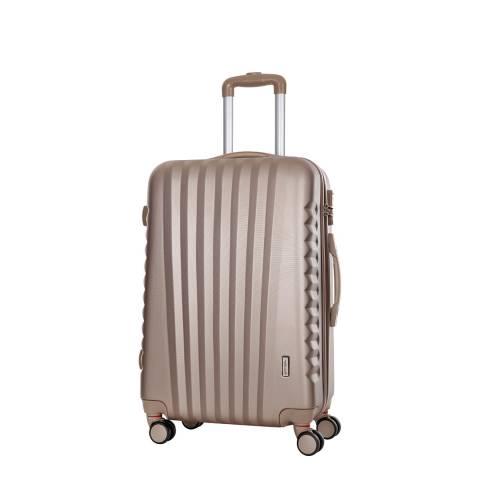 Travel One Beige Hills Spinner Suitcase 50cm
