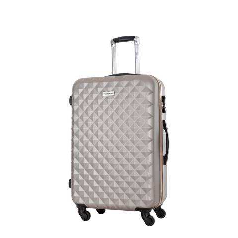 Travel One Beige Edison Spinner Suitcase 45cm
