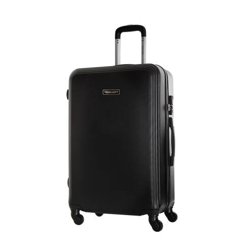 Travel One Black Alicudi Spinner Suitcase 55cm