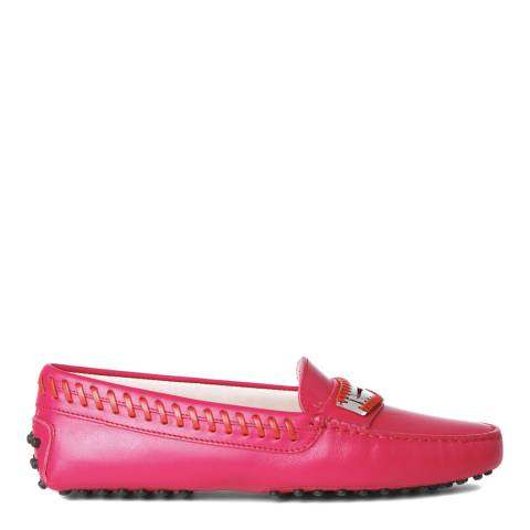 Tod's Ladies Pink Leather Loafers