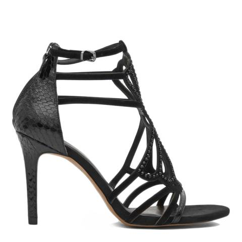 Reiss Black Leather Scarlet Cut Out Heels