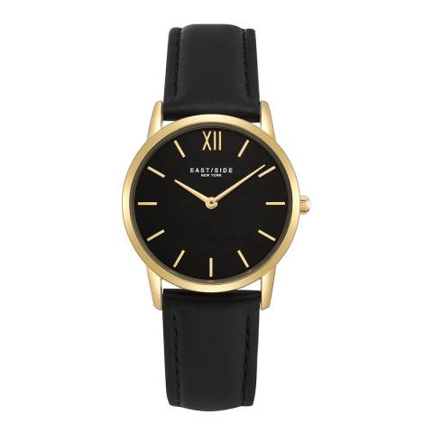 East Village Upper Union Lady Watch black yellow gold