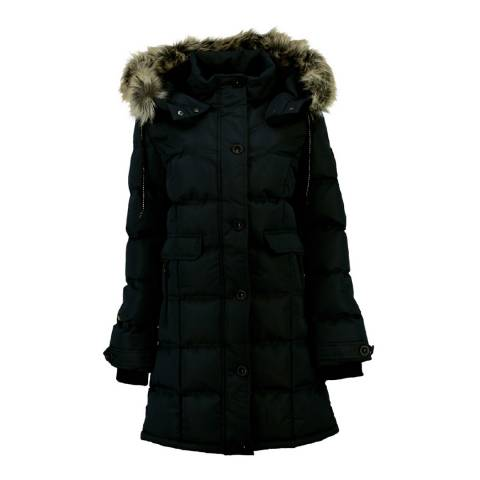 Geographical Norway Black Parka