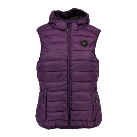Geographical Norway Women's Purple Venezia Hood Gilet