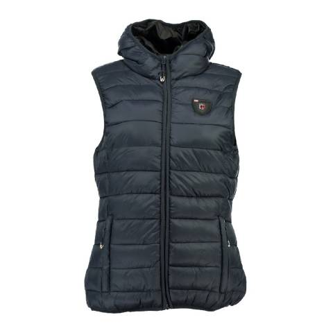 Geographical Norway Women's Navy Venezia Hood Gilet