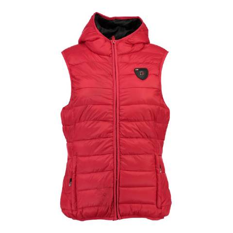 Geographical Norway Women's Red Venezia Hood Gilet