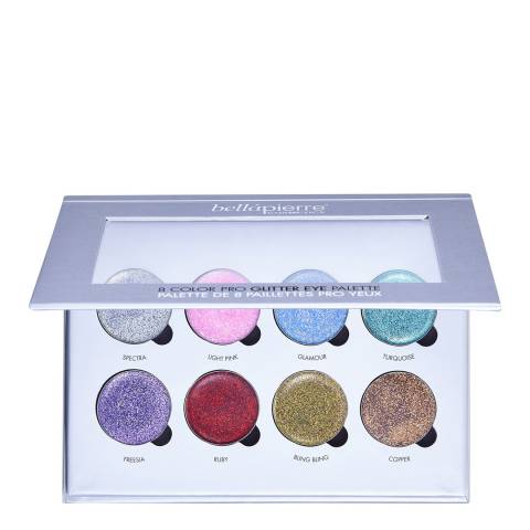 Bellapierre 8 Color Pro Glitter Eye Palette