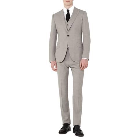 Reiss Grey Modern Fit 3 Piece Jones Suit