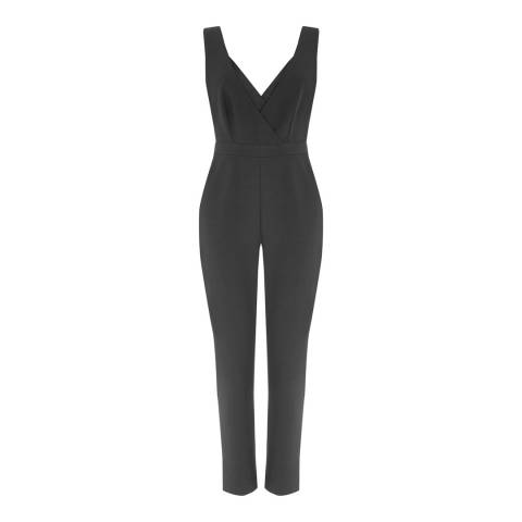 Warehouse Black Cross Front Jumpsuit