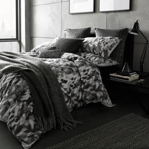 Karl Lagerfeld Grey Facet Double Duvet Cover