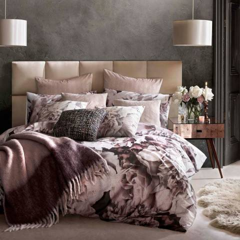 Karl Lagerfeld Nude Rose Spray Super King Duvet Cover
