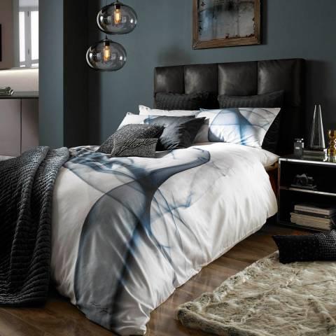 Karl Lagerfeld Smoke Petrol Housewife Pillowcase Pair