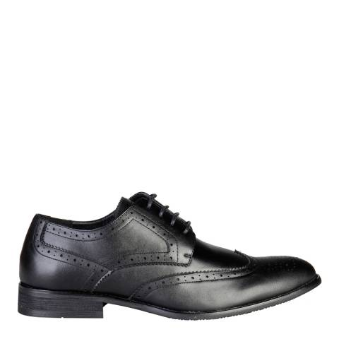 Pierre Cardin Men's Black Leather Brogues