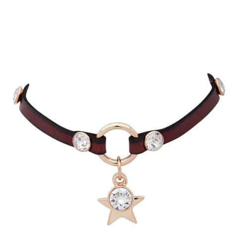BiBi Bijoux Tan/Rose Gold Leather Choker Necklace