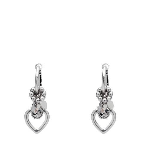 BiBi Bijoux Silver Heart Charm Earrings