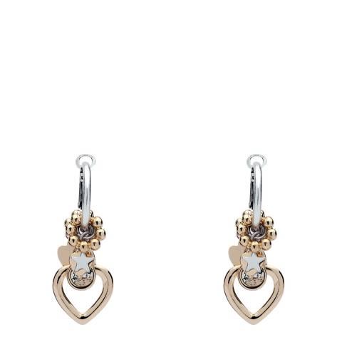 BiBi Bijoux Rose Gold Heart Charm Earrings