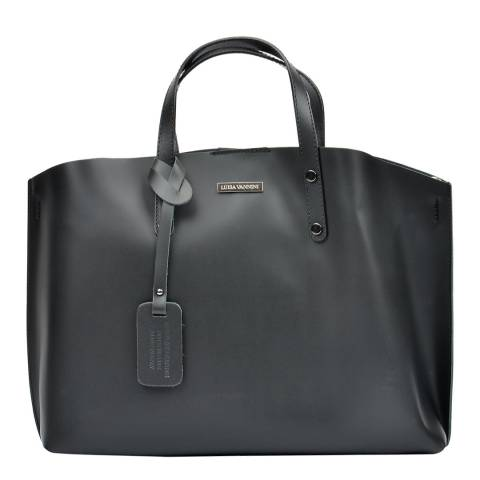 Luisa Vannini Black Tote Leather Bag